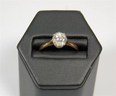 Lot 171 - A single-stone diamond ring