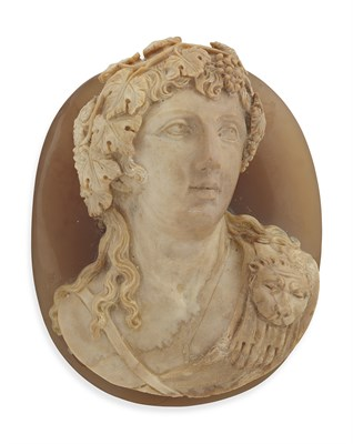 Lot 58 - A large carved hardstone cameo