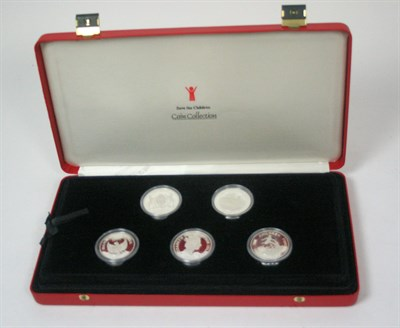 Lot 626 - A Save The Children silver proof set