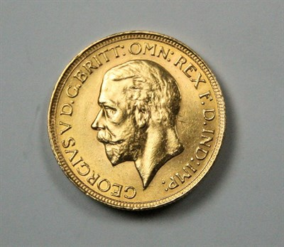 Lot 574 - A George V sovereign