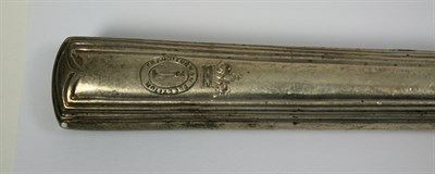 Lot 669 - A part canteen of European fiddle and thread flatware