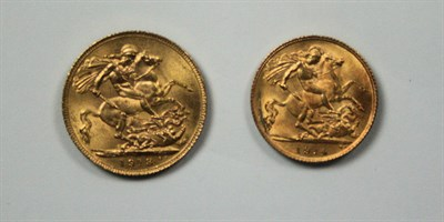 Lot 575 - A George V sovereign