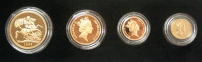 Lot 590 - An Elizabeth II four coin gold proof set