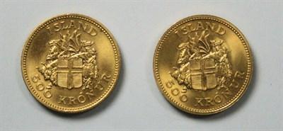 Lot 601 - Two Icelandic commemorative 55 kroner