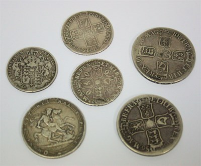 Lot 611 - A small collection of early milled silver coinage