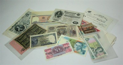 Lot 620 - A collection of world banknotes