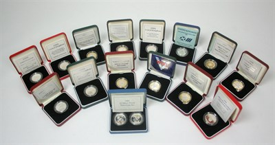 Lot 628 - A collection of modern silver proof £2 coins