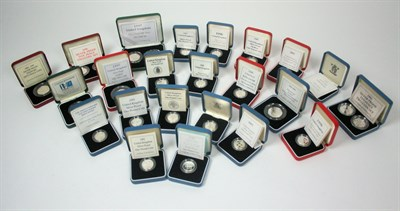 Lot 640 - A large collection of modern British silver proof coinage