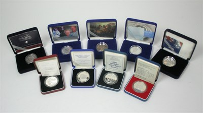 Lot 627 - A collection of British silver proof £5