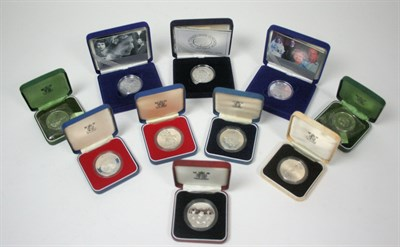 Lot 629 - A collection of British proof £5 coins