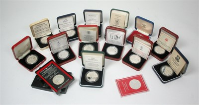 Lot 645 - A collection of world crown sized coins
