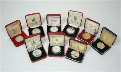Lot 644 - A collection of world crown sized coins