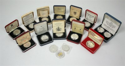 Lot 641 - A collection of world crown sized coins