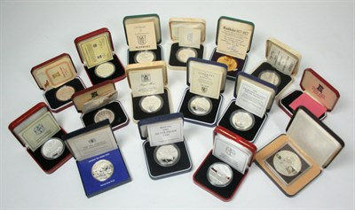 Lot 643 - A collection of world crown sized coins