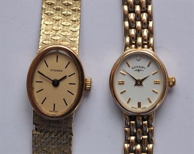 Lot 134 - ROTARY - A lady's 9ct gold wrist watch