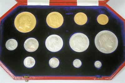 Lot 622 - A 1902 thirteen coin matt proof set