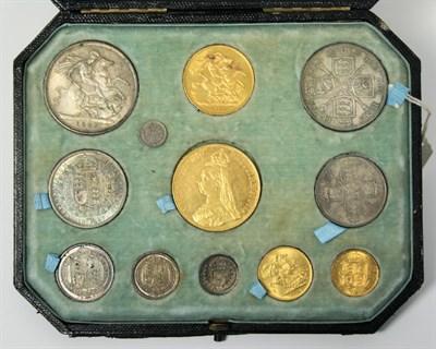 Lot 594 - An 1887 specimen coin set