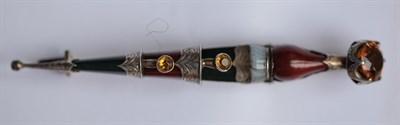Lot 82 - A Scottish hard stone kilt pin