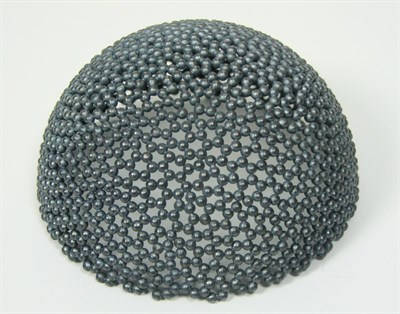 Lot 4 - DAVID HUYCKE - A contemporary oxidised granule bowl from 'Pearl Spheres' series