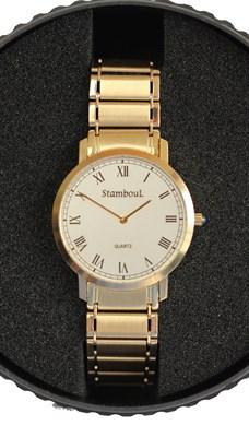 Lot 138 - STAMBOUL - A gentleman's 14ct gold wrist watch