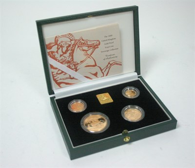Lot 587 - A 2000 four coin gold proof set