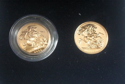 Lot 571 - A 2000 sovereign two coin set