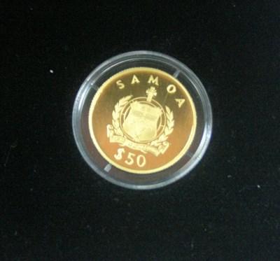 Lot 596 - A 1998 Samoa proof gold $50
