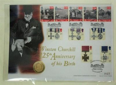 Lot 593 - A Sir Winston Churchill gold coin cover