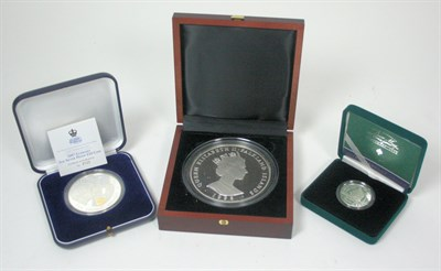 Lot 635 - A group of three large world silver proof coins