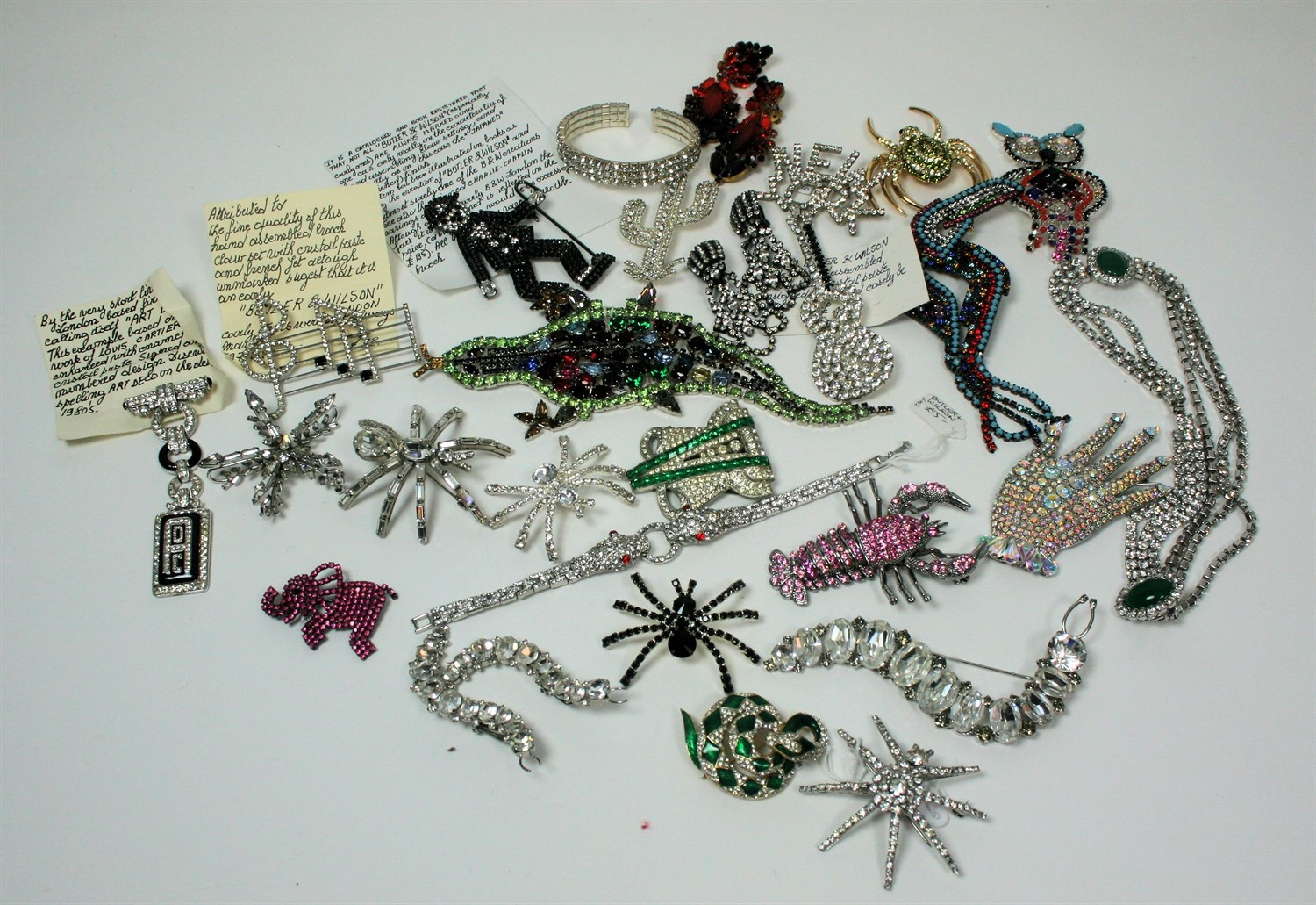 Lot 65 - A collection of paste set costume jewellery