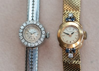 Lot 132 - Two diamond set cocktail watches