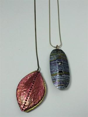 Lot 13 - JANE ADAM - An anodised and digitally printed aluminum pendant