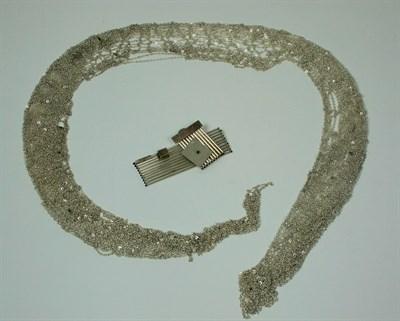 Lot 18 - FLORA BOOK - Knitted silver neckpiece