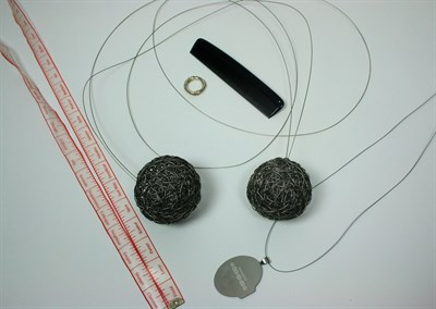 Lot 19 - LIN CHEUNG - 'Friend or Foe Tapemeasure' neckpiece