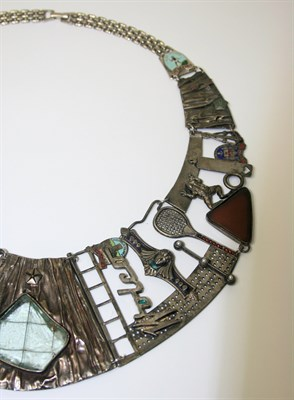 Lot 38 - Attributed to Brigitte Moser - A contemporary bib necklace