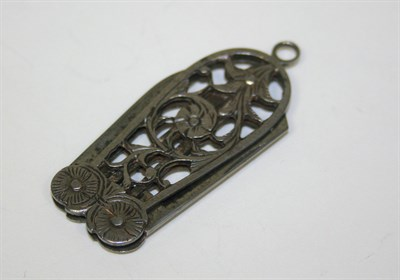 Lot 56 - An 18th/early 19th century cut steel pendant pocket knife
