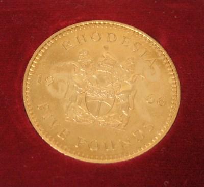 Lot 603 - A Rhodesian £5 coin