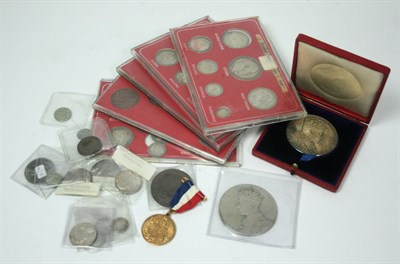 Lot 650 - A collection of silver coins and medallions