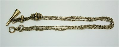 Lot 110 - A yellow metal watch chain