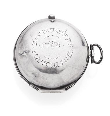 Lot 206 - ROBERT BURNS INTEREST - A silver pair cased pocket watch