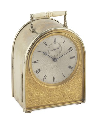 Lot 108 - ENGLISH HUMPBACK CARRIAGE TIMEPIECE BY DENT