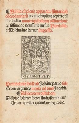 Lot 66 - French Latin Bible - Thielman Kerver and Jean Petit, 1504