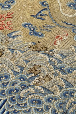 Lot 446-RARE DOWAGER EMPRESS CIXI IMPERIAL TWELVE-SYMBOL FESTIVE SUMMER 'DRAGON' ROBE (LONG PAO)