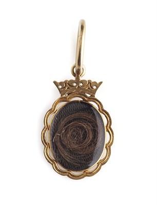 Lot 3-A fine 18th century gold pendant enclosing a lock of Prince Charles Edward Stuart's hair