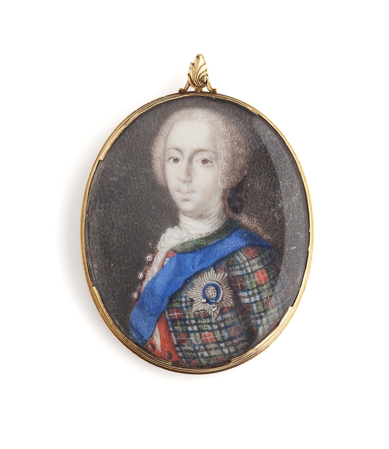 Lot 4-Attributed to Charles Dixon - An 18th century portrait miniature of Prince Charles Edward Stuart