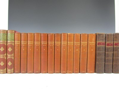 Lot 77 - Leather bindings, 52 volumes, including Ainsworth, W.H.