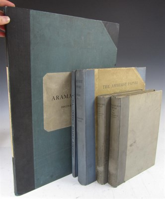 Lot 125 - Papyrus, a collection comprising Sayce, Archibald Henry
