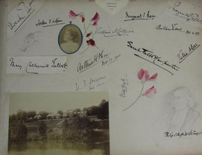 Lot 97 - Scrapbook - Lady Isobel Kerr, later Scott