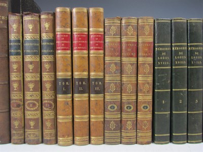Lot 67 - French literature, a large quantity, mostly 19th century, leather bound, including Montrosier, E.