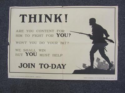 Lot 43 - World War 1 Recruitment Poster - Harry Oakley